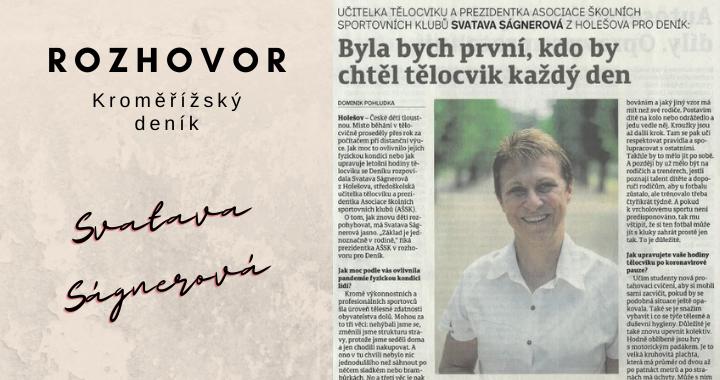 Rozhovor s prezidentkou AŠSK ČR Svatavou Ságnerovou